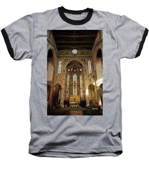 Baseball T-Shirt featuring the photograph Santa Croce Florence Italy by Joan Carroll