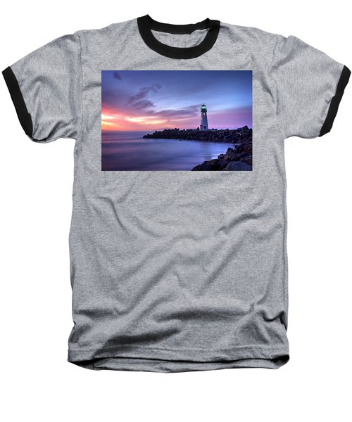 Santa Cruz Harbor Mouth Sunrise Baseball T-Shirt