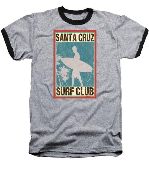 Santa Cruz Surf Club Baseball T-Shirt by Greg Sharpe
