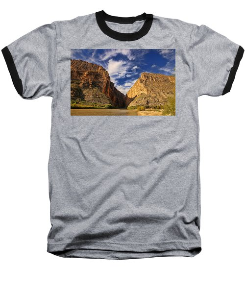 Santa Elena Canyon 3 Baseball T-Shirt by Judy Vincent