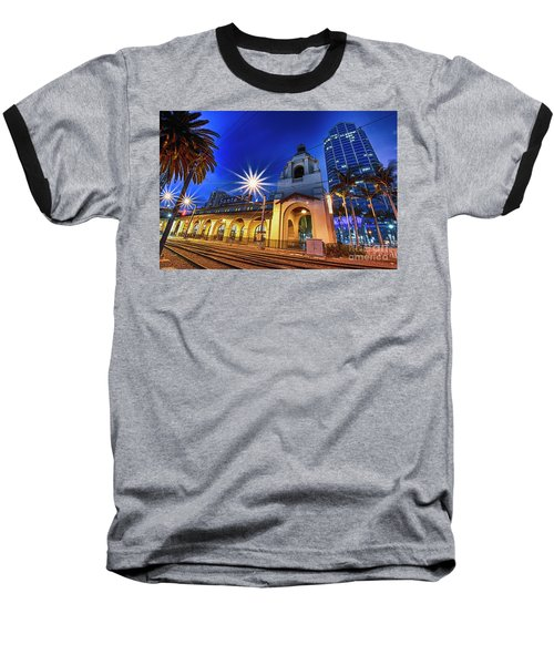Santa Fe At Night Baseball T-Shirt