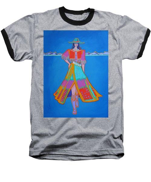 Santa Fe Girl  Baseball T-Shirt
