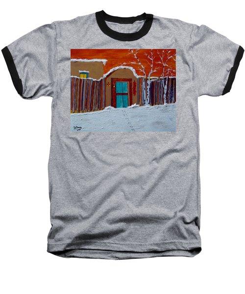 Santa Fe Snowstorm Baseball T-Shirt by Joseph Frank Baraba
