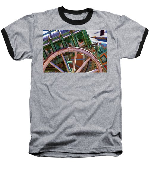 Baseball T-Shirt featuring the photograph Santa Fe Spokes by Stephen Anderson