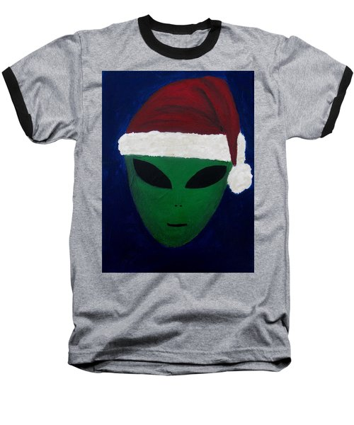 Baseball T-Shirt featuring the painting Santa Hat by Lola Connelly