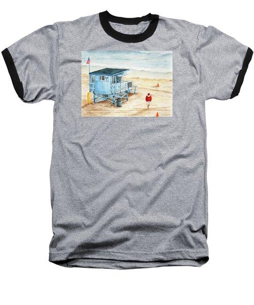 Santa Is On The Beach Baseball T-Shirt