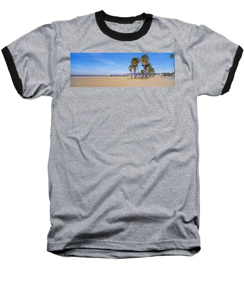 Santa Monica Beach Ca Baseball T-Shirt