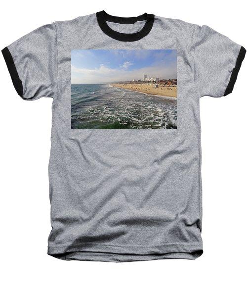 Santa Monica Beach Baseball T-Shirt