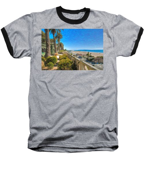 Santa Monica Ca Palisades Park Bluffs Gold Coast Luxury Houses Baseball T-Shirt