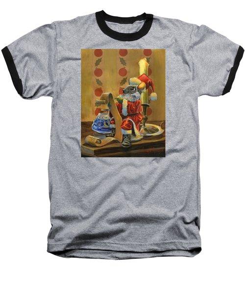 Santa Mouse Baseball T-Shirt