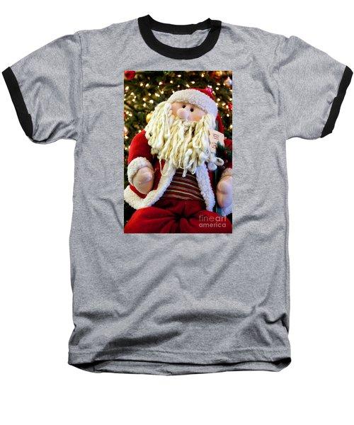 Santa Takes A Seat Baseball T-Shirt