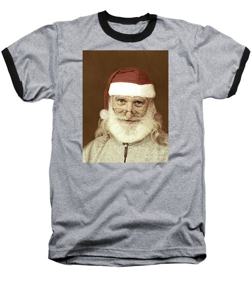 Santa's Day Off Baseball T-Shirt