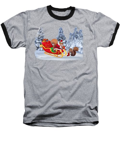 Santa's Little Helper Baseball T-Shirt