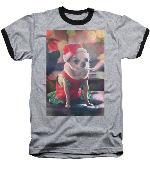 Baseball T-Shirt featuring the photograph Santa's Little Helper by Laurie Search