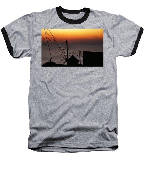 Santorini Baseball T-Shirt by David Gilbert