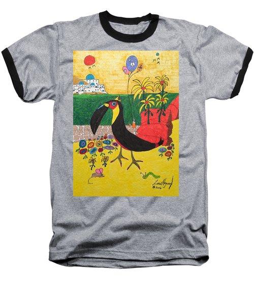 Santorini-esque Baseball T-Shirt