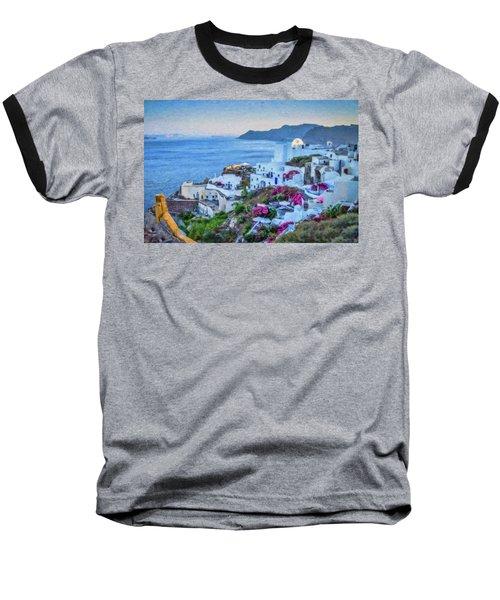 Santorini Greece Dwp416136  Baseball T-Shirt