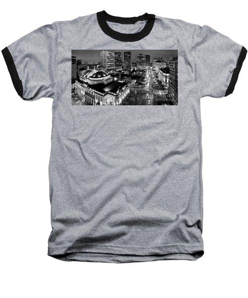 Sao Paulo Downtown - Viaduto Do Cha And Around Baseball T-Shirt