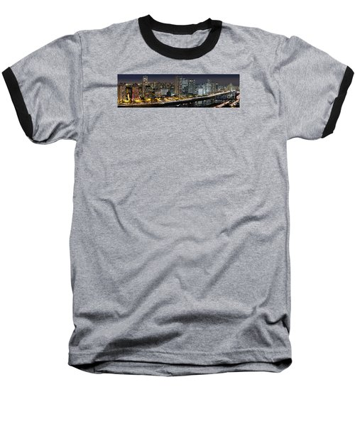 Sao Paulo Iconic Skyline - Cable-stayed Bridge  Baseball T-Shirt