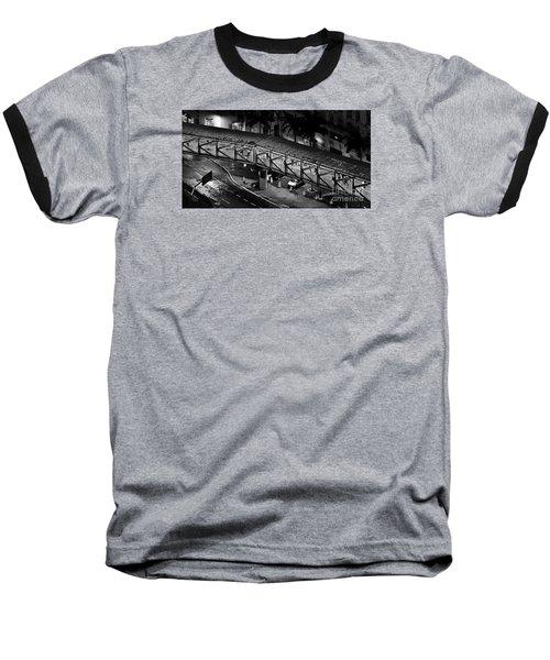 Sao Paulo - Metallic Footbridge At Night Baseball T-Shirt