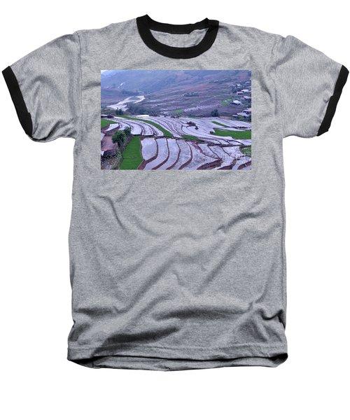 Sapa Rice Paddies Baseball T-Shirt