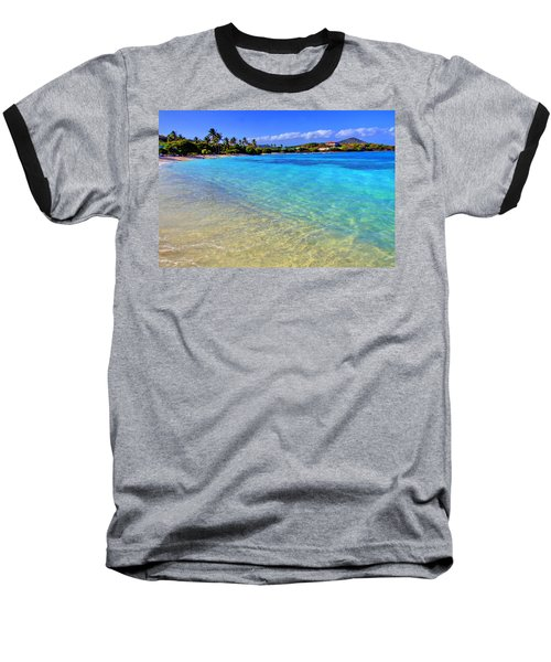 Sapphire Glow Baseball T-Shirt by Scott Mahon