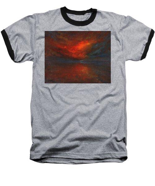 Sapphire Sunset Baseball T-Shirt by Jane See