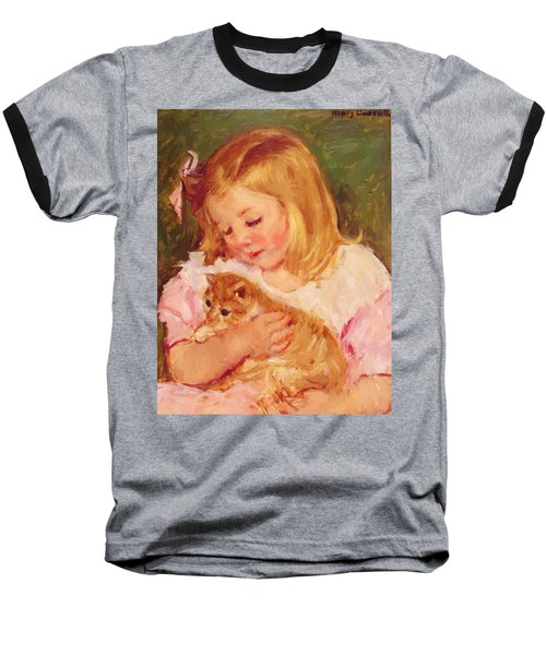 Sara Holding A Cat Baseball T-Shirt