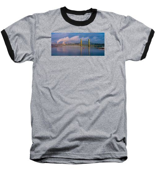 Sarah Long Bridge At Dawn Baseball T-Shirt