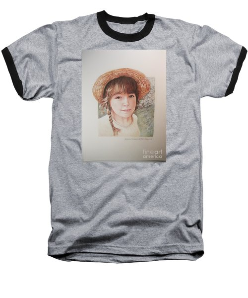 Baseball T-Shirt featuring the painting Sarah by Patricia Schneider Mitchell
