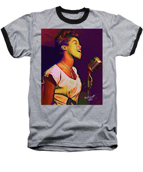 Sarah Vaughn Baseball T-Shirt by Ted Azriel