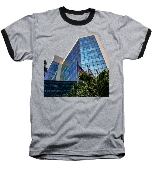 Sarasota Architecture Glass Transparency Baseball T-Shirt