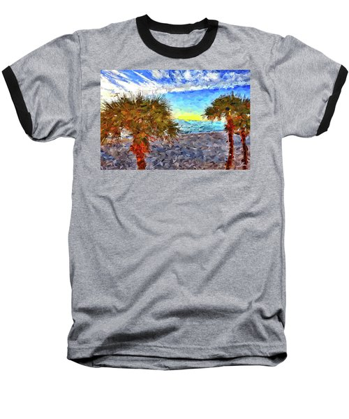 Sarasota Beach Florida Baseball T-Shirt by Joan Reese