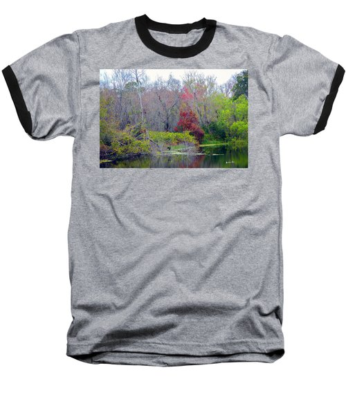 Baseball T-Shirt featuring the photograph Sarasota Reflections by Madeline Ellis