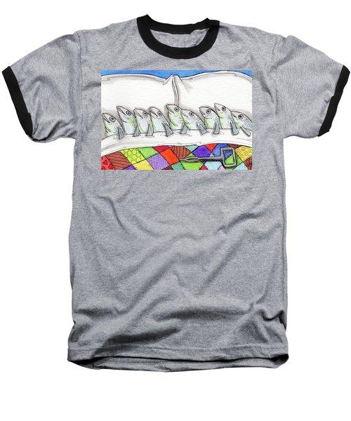 Sardines Baseball T-Shirt