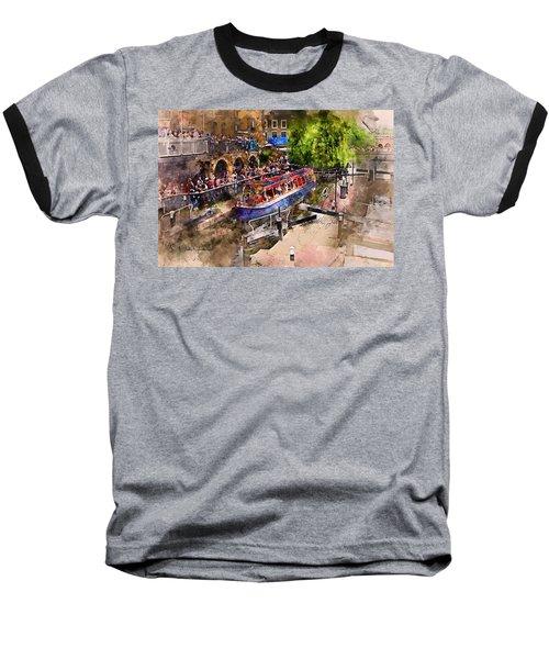Saturday Afternoon At Camden Lock Baseball T-Shirt by Nicky Jameson