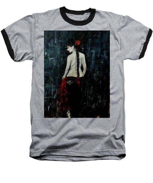 Baseball T-Shirt featuring the painting Saturday Evening  by Cristina Mihailescu