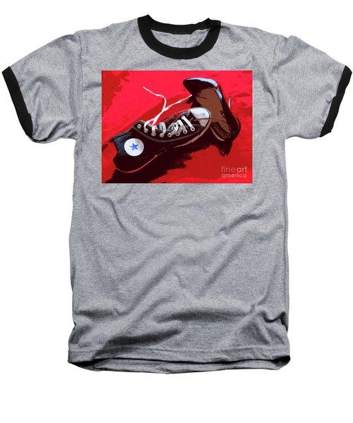 Living In Converse Saturday Night. Baseball T-Shirt