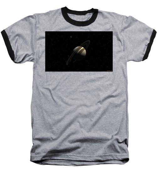 Saturn With Titan Baseball T-Shirt