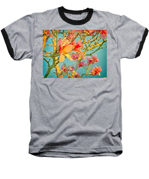 Baseball T-Shirt featuring the photograph Saucer Magnolia by Angela Annas