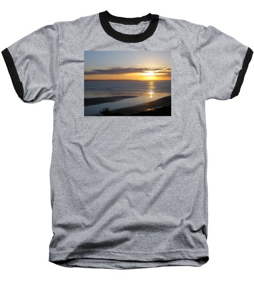 Saunton Sands Sunset Baseball T-Shirt