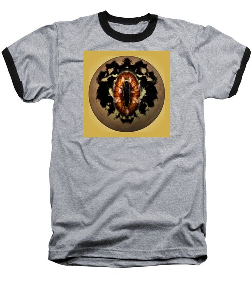 Baseball T-Shirt featuring the digital art Sauron's Eye by Mario Carini