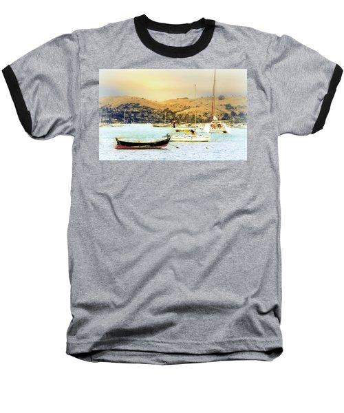 Sausalito Sailboats Baseball T-Shirt by Laura DAddona