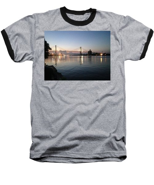 Savannah Bridge Evening  Baseball T-Shirt