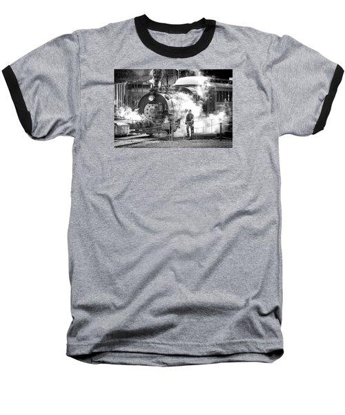 Savannah Central Steam Locomotive Baseball T-Shirt
