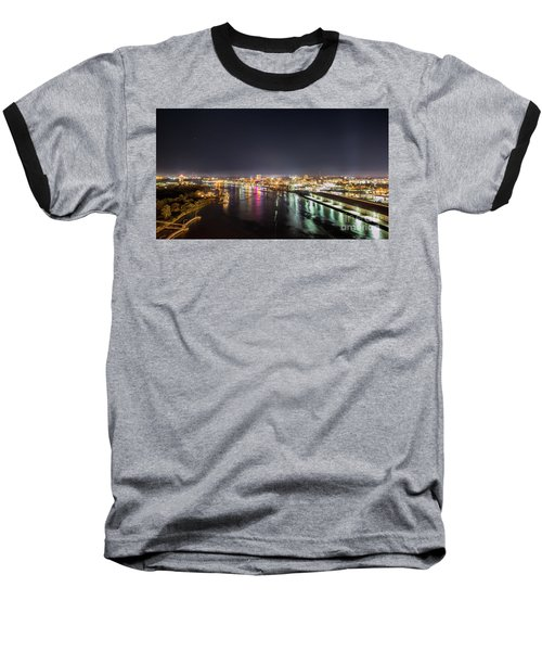 Savannah Georgia Skyline Baseball T-Shirt