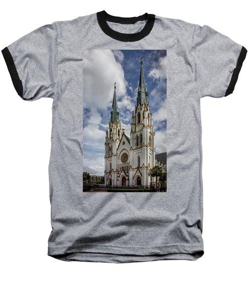 Baseball T-Shirt featuring the photograph Savannah Historic Cathedral by James Woody