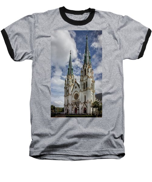 Savannah Historic Cathedral Baseball T-Shirt