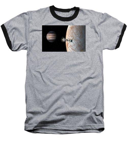 Baseball T-Shirt featuring the digital art Savannah Leaving Europa by David Robinson