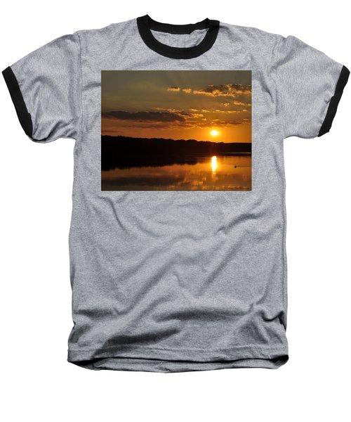 Savannah River Sunset Baseball T-Shirt